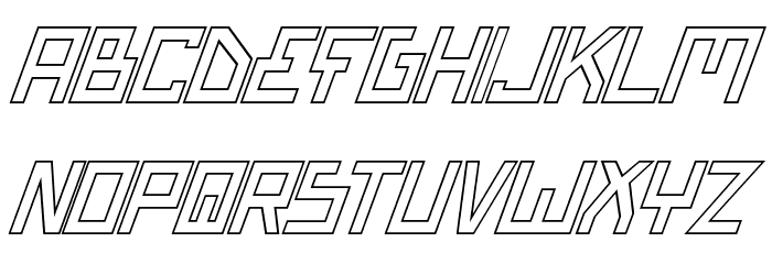 Bionic Type Out Italic Font LOWERCASE