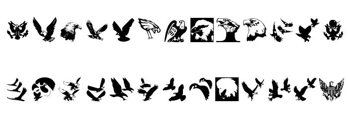 BirdsInHeaven Fonte MAIÚSCULAS