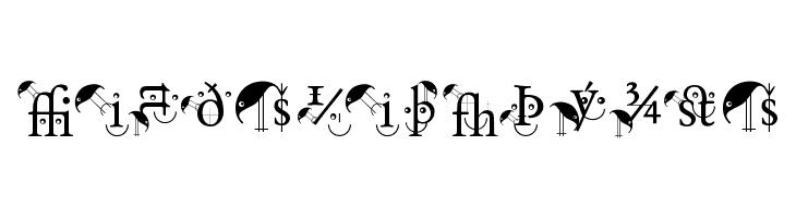 BirdsWithTypes  Скачать бесплатные шрифты