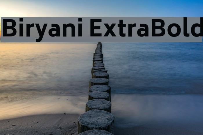 Biryani ExtraBold Font examples