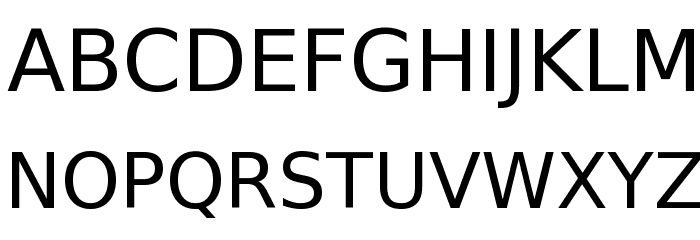 Bitstream Vera Sans Font UPPERCASE