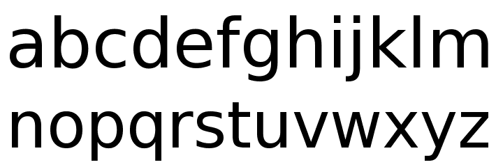 Bitstream Vera Sans Font LOWERCASE