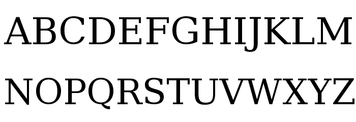 Bitstream Vera Serif Font UPPERCASE