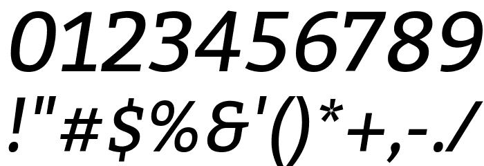 Bitter Italic Font Alte caractere