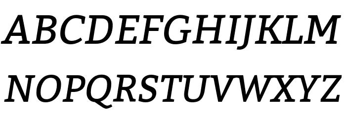 Bitter Italic Font Litere mari