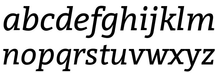 Bitter Italic Font Litere mici