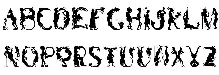 Bizarro Regular Font Litere mici