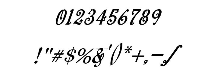 bitling Sravi Italic Шрифта ДРУГИЕ символов
