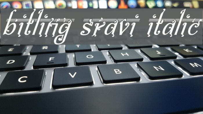 bitling Sravi Italic Шрифта examples