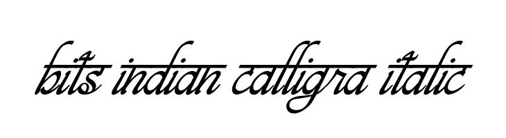 bits indian calligra Italic  Скачать бесплатные шрифты