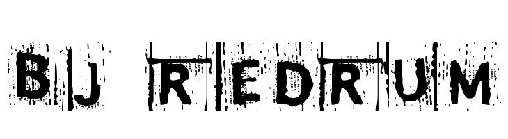 BJ REDRUM  Free Fonts Download