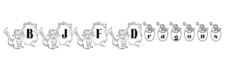 BJF Dragons  Скачать бесплатные шрифты