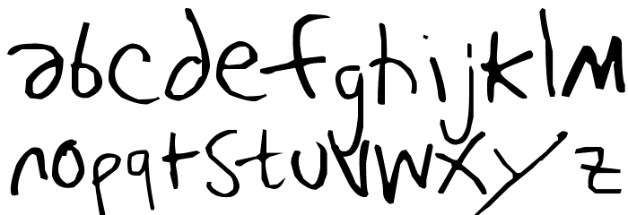 Bj�rk Handwriting Font UPPERCASE