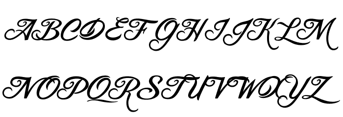 BLANCCHATEAU-Regular Font UPPERCASE