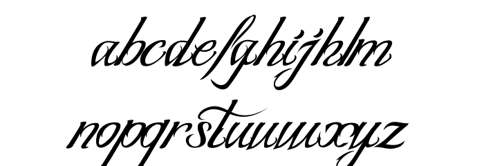 BLANCCHATEAU-Regular Font LOWERCASE