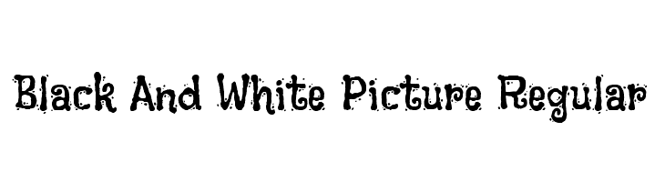 Black And White Picture Regular  baixar fontes gratis