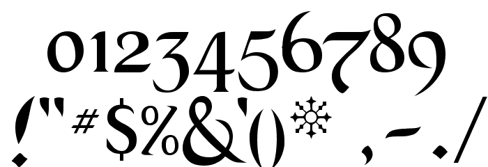 Black Chancery Font OTHER CHARS