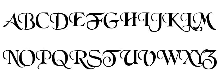 Black Chancery Font UPPERCASE