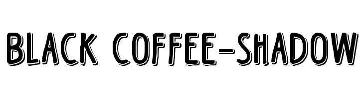 Black Coffee-Shadow  Fuentes Gratis Descargar