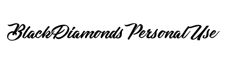 Black Diamonds Personal Use  Free Fonts Download