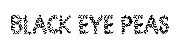 Black Eye Peas  Free Fonts Download