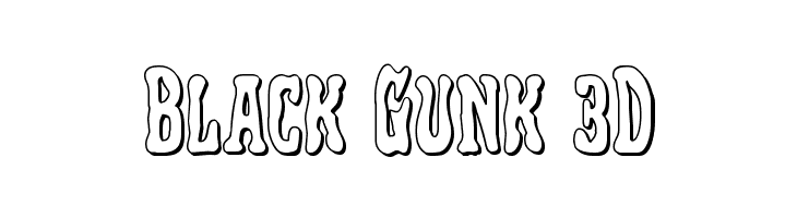 Black Gunk 3D  नि: शुल्क फ़ॉन्ट्स डाउनलोड