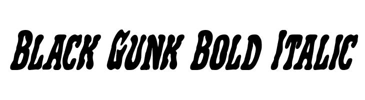 Black Gunk Bold Italic  नि: शुल्क फ़ॉन्ट्स डाउनलोड