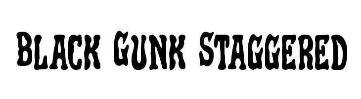 Black Gunk Staggered  Скачать бесплатные шрифты
