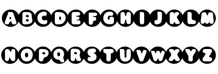 Black Hole Font UPPERCASE