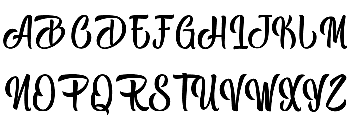 Black Melody - Personal Use Font UPPERCASE