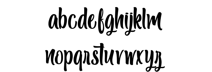 Black Melody - Personal Use Font LOWERCASE