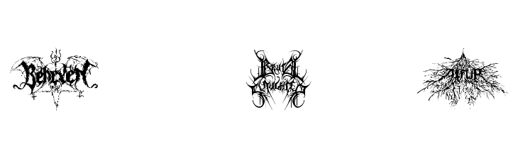 Black Metal G  Free Fonts Download