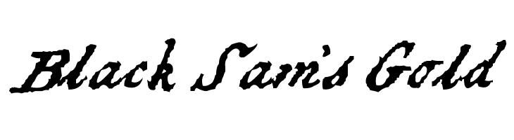 Black Sam's Gold  Free Fonts Download