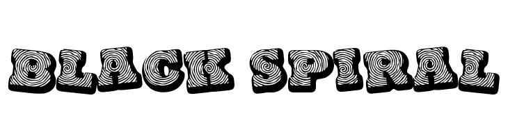Black spiral  Free Fonts Download