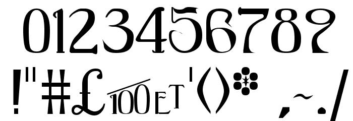 BlackAdderII Шрифта ДРУГИЕ символов