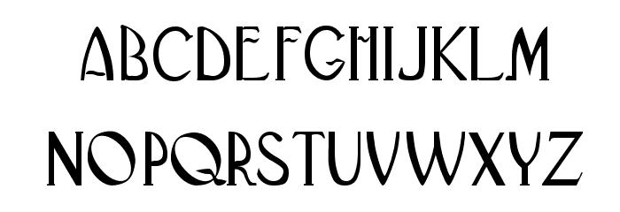 BlackAdderII Шрифта строчной