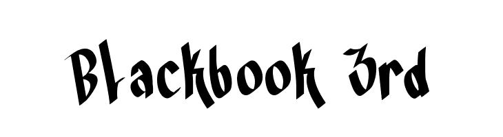 Blackbook 3rd फ़ॉन्ट