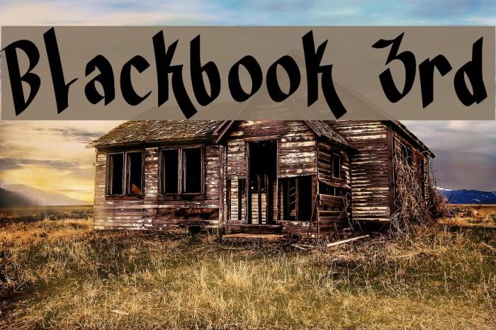 Blackbook 3rd फ़ॉन्ट examples