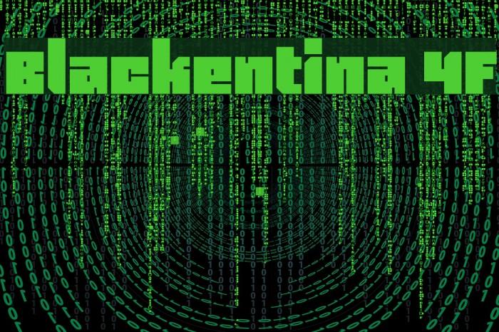 Blackentina 4F Font examples