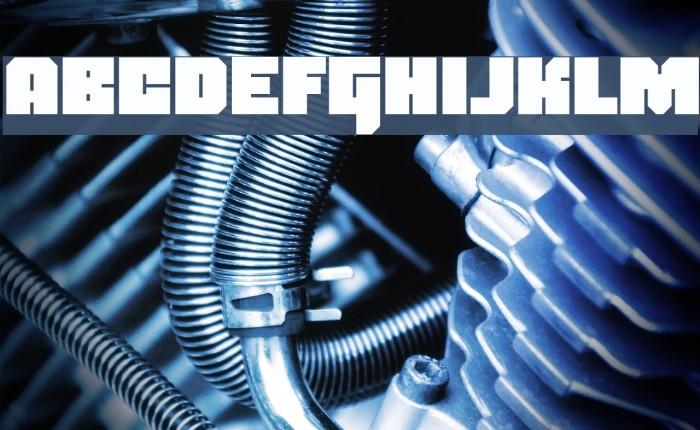 Blackentina4F Font examples