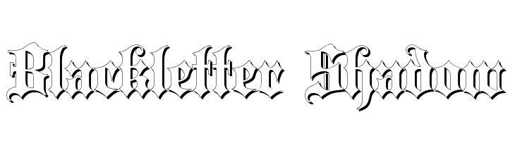 Blackletter Shadow  Descarca Fonturi Gratis