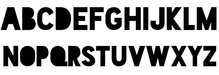 Blackout Midnight Font UPPERCASE