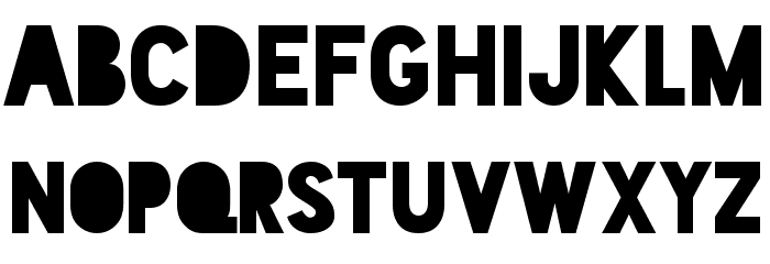 Blackout Midnight Font LOWERCASE