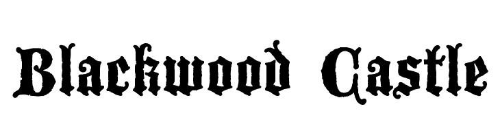 Blackwood Castle  Free Fonts Download