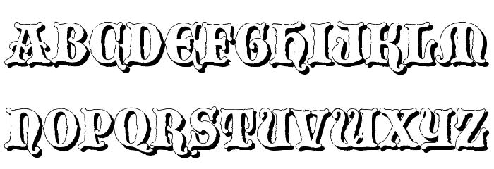 BlackwoodCastleShadow Font Litere mari