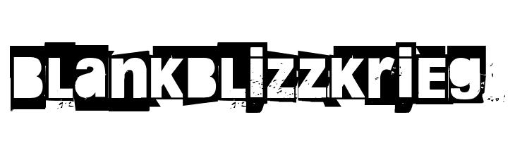 Blankblizzkrieg  Скачать бесплатные шрифты