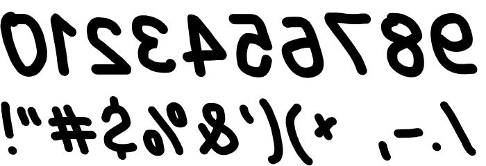 Blanket Reversed Oblique Font OTHER CHARS