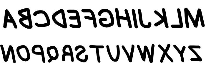Blanket Reversed Oblique Font UPPERCASE