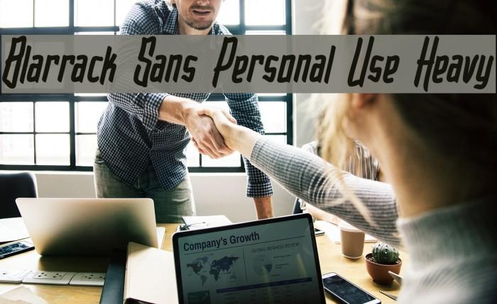 Blarrack Sans Personal Use Heavy Font examples