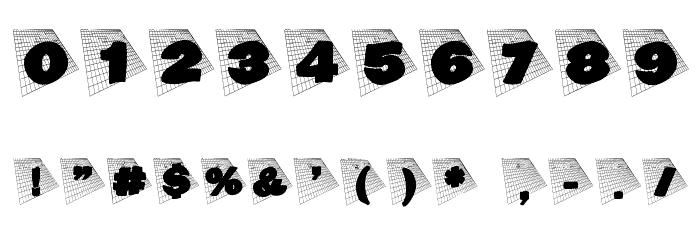 BlaxxOnGrid Font OTHER CHARS